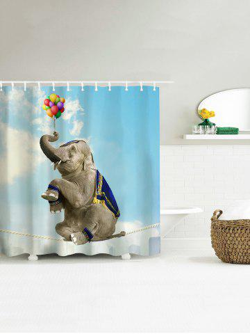 Trendy Elephant Water Resistant Polyester Shower Curtain - 180*180CM COLORMIX Mobile