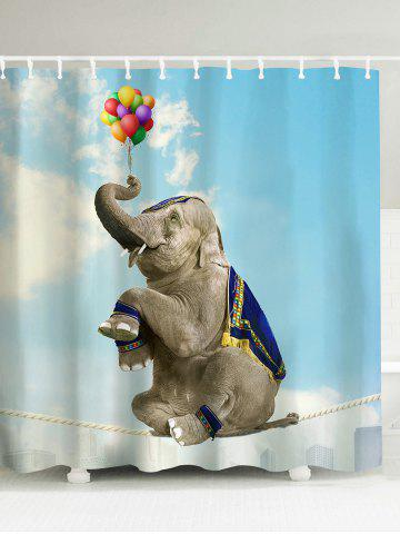 New Elephant Water Resistant Polyester Shower Curtain - 180*180CM COLORMIX Mobile