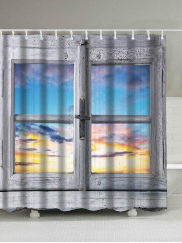 Window Sunset Screen Print Polyseter Waterproof Shower Curtain - Colormix - 180*200cm