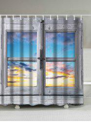 Window Sunset Screen Print Polyseter Waterproof Shower Curtain