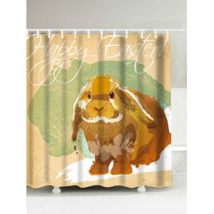 Happy Easter Rabbit Printed Waterproof Shower Curtain - Colormix - 180*200cm