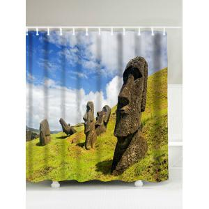 Megalith Face Polyester Waterproof Shower Curtain - Colormix - 180*200cm