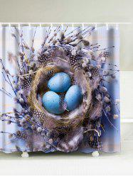 Bird's Nest Easter Egg Print Waterproof Shower Curtain