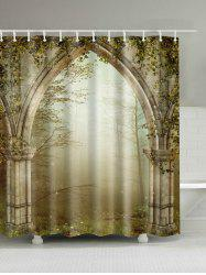 Dreamy Creepers Archway Print Waterproof Shower Curtain - COLORMIX