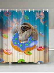 Cute Sloth and Donuts Shower Curtain