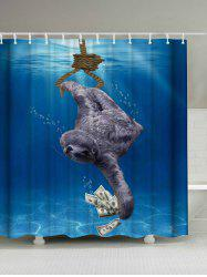 Sea Sloth Print Shower Curtain