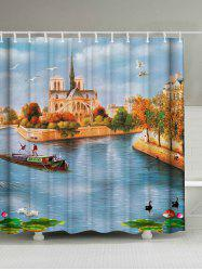 Oil Painting Scenic Waterproof Fabric Shower Curtain