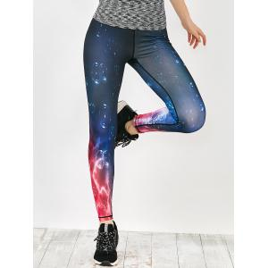 Galaxy Print Sport Running Leggings