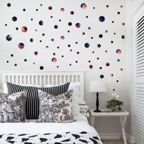 Cheap DIY Circle Galaxy Wall Sticker For Kids Room COLORMIX 45*50CM
