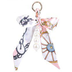 Fake Pearls Silk Bowknot Keychain
