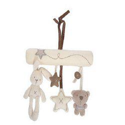 Baby Infant Music Plush Activity Crib Stroller Soft Toys Rabbit Star Shape -