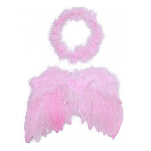 Fancy Cute Baby Kids Feather Wings Headwear Accessory