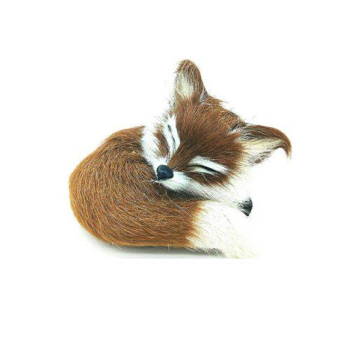 Super Cute Simulation Fox Plush Toys Kids Appease Doll Gifts YELLOW