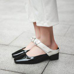 Knot Square Toe Mules Shoes