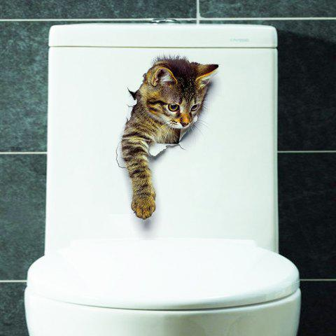 Online Cat Animal 3D Removable Bathroom Wall Sticker