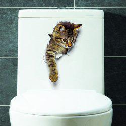 Cat Animal 3D Removable Bathroom Wall Sticker