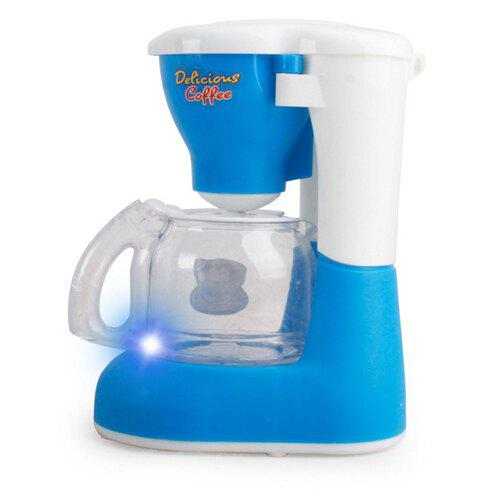 Affordable Mini Kitchen Plastic Sound Simulation Coffee Machine for Kids