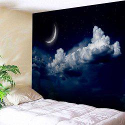 Moonnight Print Wall Blanket Hanging Tapestry