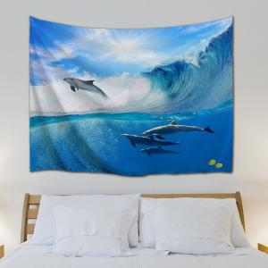 ... Surfing Dolphin Bedroom Decor Wall Hanging Tapestry