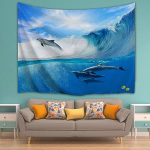 ... Surfing Dolphin Bedroom Decor Wall Hanging Tapestry ...
