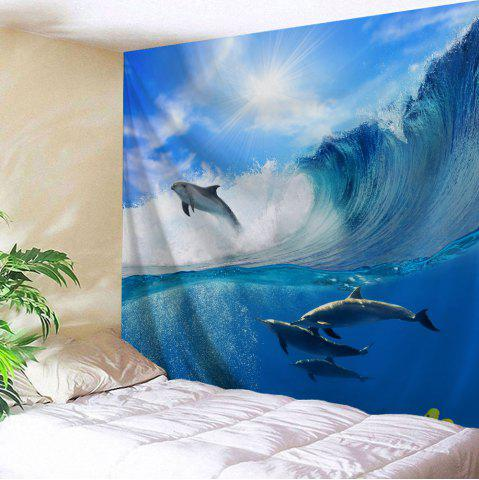 Online Surfing Dolphin Bedroom Decor Wall Hanging Tapestry