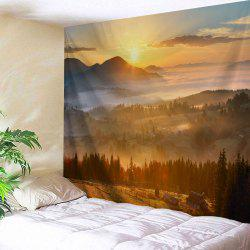 Natural Sunset View Polyester Fabric Wall Tapestry