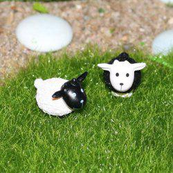 2pcs Lovely Micro-Landscape Decoration PVC Toys Sheep Design -