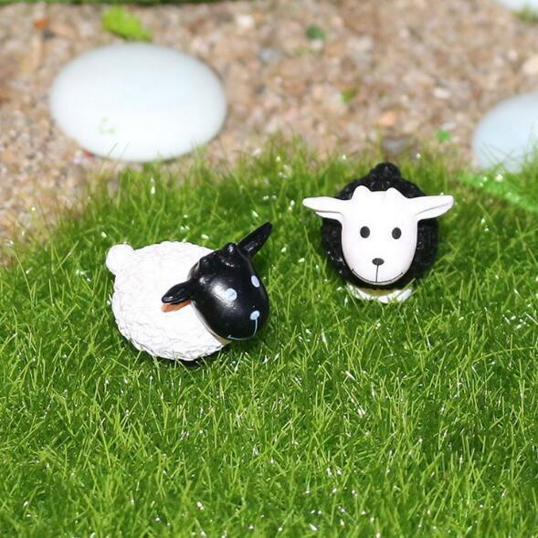 Outfits 2pcs Lovely Micro-Landscape Decoration PVC Toys Sheep Design