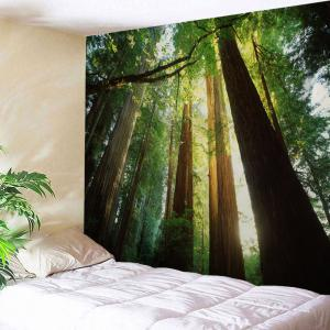 Home Decor Wall Hanging Sunshine Forest Tapestry