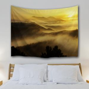 Misty Mountains Scenery Wall Decoration Tapestry -