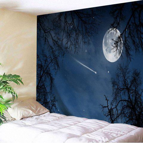 Moonnight Meteor Polyester Throw Wall Tapestry - Night Blue - W71 Inch * L91 Inch