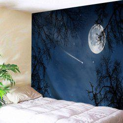 Moonnight Meteor Polyester Throw Wall Tapestry