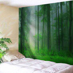 Foggy Forest Wall Hangings Bedroom Tapestry