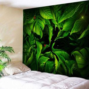 Greenery Bedroom Dorm Decor Wall Tapestry - Deep Green - W71 Inch * L91 Inch