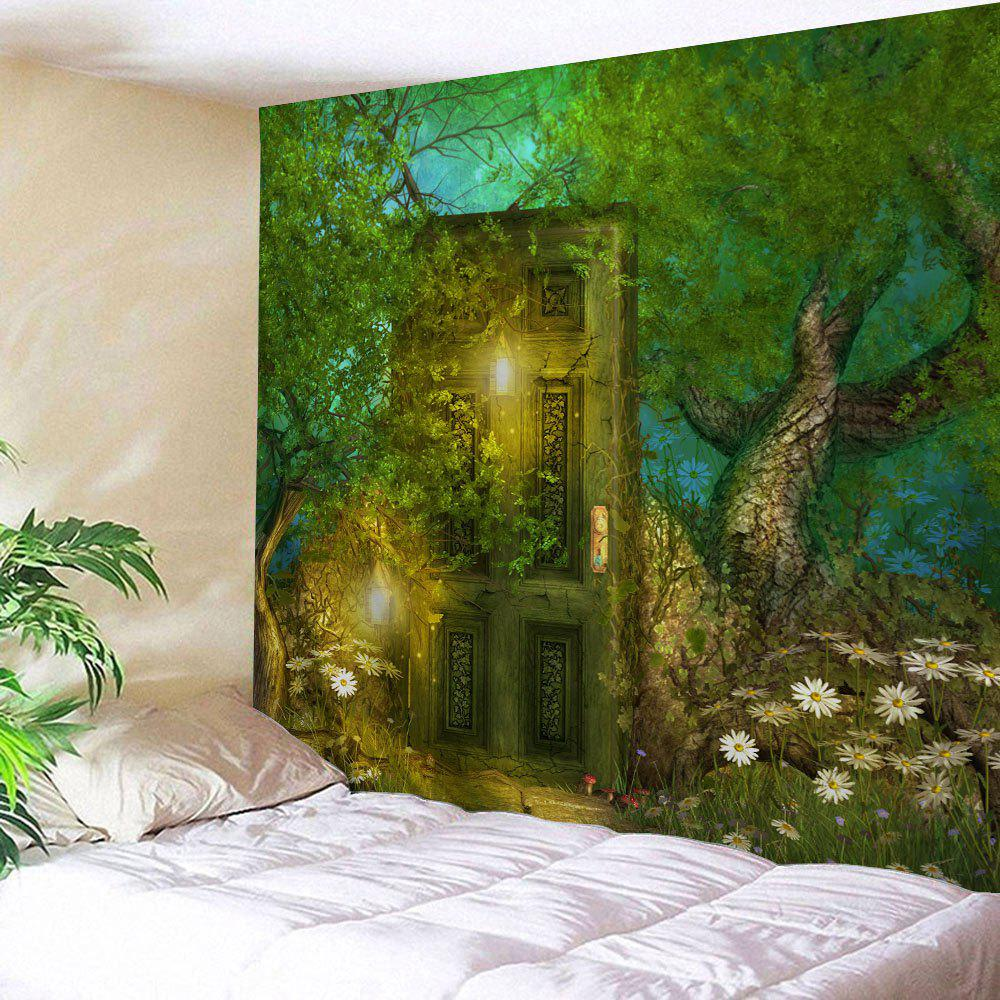 Fairy Forest Wall Hanging Home Decoration TapestryHOME<br><br>Size: W71 INCH * L91 INCH; Color: GREEN; Style: Natural; Theme: Fairytale Theme; Material: Polyester; Feature: Removable,Washable; Shape/Pattern: Print; Weight: 0.3800kg; Package Contents: 1 x Tapestry;