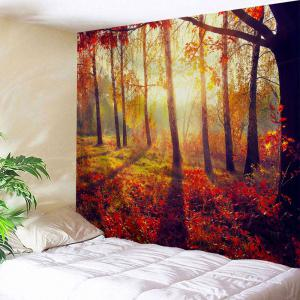 Autumn Sunshine Forest Wall Tapestry For Dorm