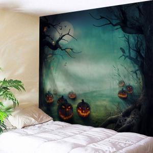 Halloween Pumpkins Print Tapestry Wall Hanging Art Decoration - Colormix - W59 Inch * L79 Inch