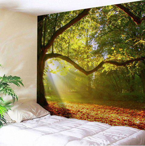 Wall Blanket Hanging Sunshine Grove Tapestry - Yellow Green - W51 Inch * L59 Inch