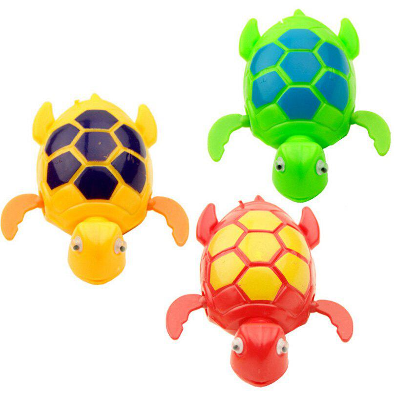 Outfit Cute Tortoise Pattern Wind-up Toy for Kids Bathing Paddle Essential