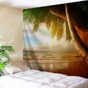 Beach Palm Tree Print Tapestry Wall Hanging Art Decoration - W71 Inch * L91 Inch