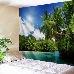 Coconut Tree Water Print Tapestry Wall Hanging Art Decoration