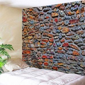 Colorful Stone Wall Print Tapestry Wall Hanging Art Decoration - W71 Inch * L91 Inch