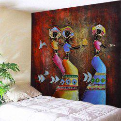 Indian Women Throw Tapestry For Wall Decoration