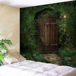 Trees Wood Door Print Tapestry Wall Hanging Art Decoration