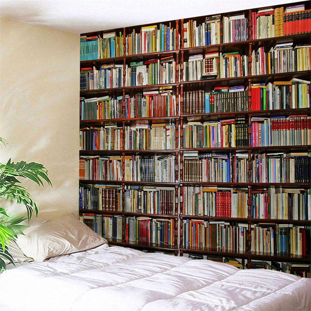 Bookshelf Wall Blanket Polyester Hanging TapestryHOME<br><br>Size: W71 INCH * L91 INCH; Color: COLORMIX; Style: Fashion; Material: Polyester; Feature: Removable,Washable; Shape/Pattern: Print; Weight: 0.3800kg; Package Contents: 1 x Tapestry;