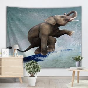 Surfing Elephant Wall Tapestry For Home Decoration -