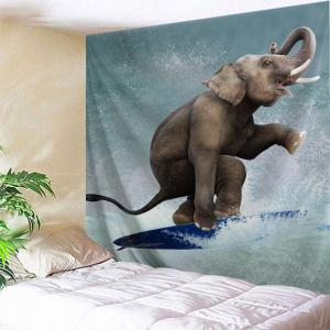 Surfing Elephant Wall Tapestry For Home Decoration