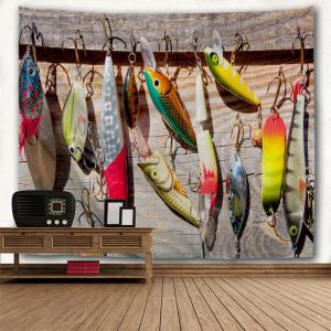 Fishhook Print Wall Art Décoration Throw Tapestry -