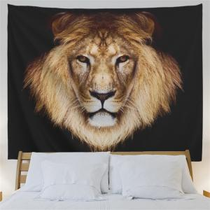 Lion Head Printed Wall Hanging Decorative Tapestry -