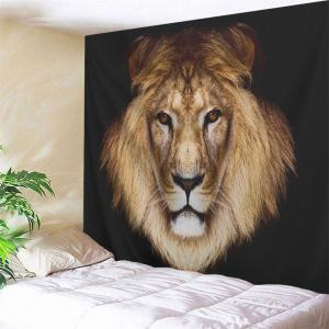 Lion Head Printed Wall Hanging Decorative Tapestry